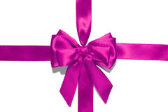 Purple  ribbon and bow Royalty Free Stock Photo