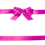 Purple  ribbon and bow Royalty Free Stock Image