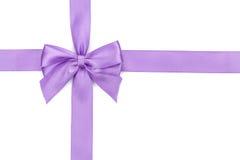 Purple ribbon bow Royalty Free Stock Photos