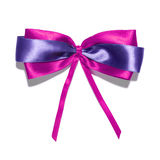 Purple  ribbon and bow Royalty Free Stock Photography