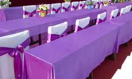 Purple ribbon  chair Stock Photo