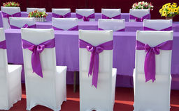 Purple ribbon  chair Stock Images