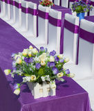 Purple ribbon  chair Royalty Free Stock Photography