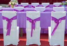Purple ribbon  chair Royalty Free Stock Image