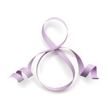Purple ribbon in form of number 8. Royalty Free Stock Image