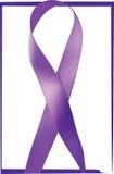 Purple ribbon. General Cancer Awareness. Lupus awareness.   Royalty Free Stock Images