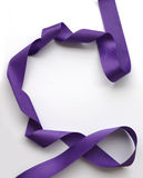 Purple ribbon over white background, design element Royalty Free Stock Images