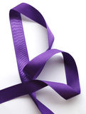 Purple ribbon over white background, design element Stock Image