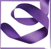Purple ribbon over white background, design element. Stock Photos