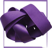 Purple ribbon over white background, design element. Stock Photo