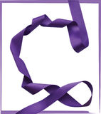 Purple ribbon over white background, design element. Stock Image