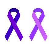 Purple ribbon symbolizing victims of homophobia Royalty Free Stock Photos