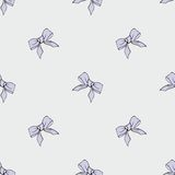 Purple ribbons. Seamless pattern for your design. Lovely purple bows. Seamless pattern for your design Stock Photo