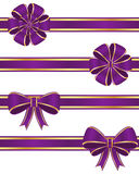 Purple ribbons Stock Images