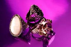 Purple ring Stock Image