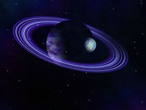 Purple ring planet Royalty Free Stock Images