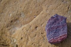 Purple rock stock photos