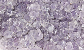 Purple rock crystal Stock Image