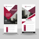 Purple roll up business brochure flyer banner design , cover presentation abstract geometric background, modern publication Royalty Free Stock Photography