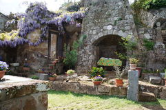Purple Romance. A purple romance secret garden with lovely flowers Stock Photo