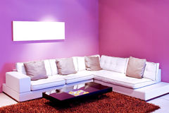 Purple room Royalty Free Stock Image