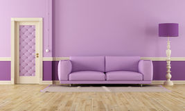 Purple room Stock Photography