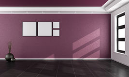 Purple room Royalty Free Stock Photography