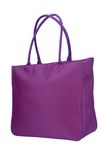 Purple roomy handbag Stock Photo