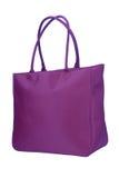 Purple roomy handbag stock photo