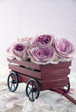 Purple rose bouquet Stock Photography