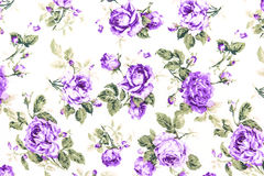 Purple Rose Fabric background, Fragment of colorful retro tapest Royalty Free Stock Image