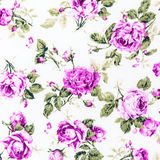 Purple Rose Fabric background, Fragment of colorful retro tapestry text Royalty Free Stock Photos