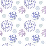 Purple rose floral seamless pattern vector design Stock Image