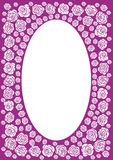 Purple rose frame. With an oval centre Royalty Free Stock Image