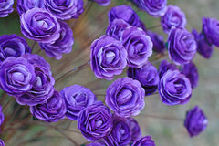 Purple rose. Handicraft paper flower as purple rose Stock Photography