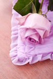 Purple rose for love Stock Images