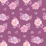 Purple rose pattern Royalty Free Stock Image