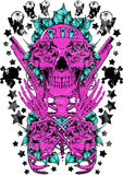 Purple rose stock illustration