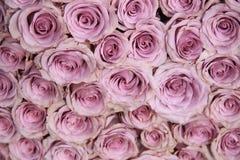 Purple rose wedding arrangement Royalty Free Stock Image