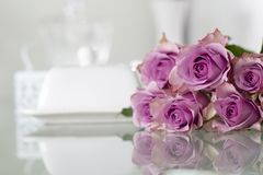 Purple Roses Bouquet Royalty Free Stock Photo