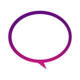 Purple round chat bubble icon. Illustraction design Stock Photos