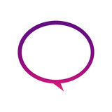 Purple round chat bubble icon. Illustraction design Royalty Free Stock Photography