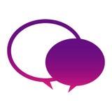 Purple round chat bubbles icon. Illustraction design Stock Image