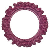 Purple Round Modern Vibrant Colored Empty Frame Stock Photos