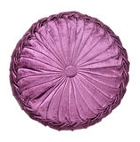 Purple round pillow Royalty Free Stock Photo