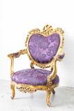 Purple Royal Chair Stock Photos