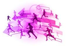 Purple runners Royalty Free Stock Photos