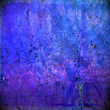Purple Rust. A purple and blue rust texture with speckles over a visual of Paris Stock Images