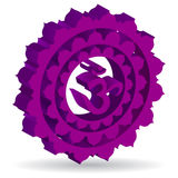 Purple Sahasrara chakra Royalty Free Stock Images