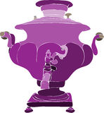 Purple samovar Stock Images
